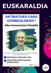 kartela_amonarriz-hitzaldia_euskaraldia_Gorbeialdea_2020