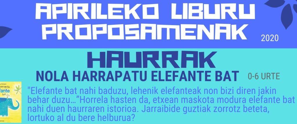 APIRILEKO LIBURUAK