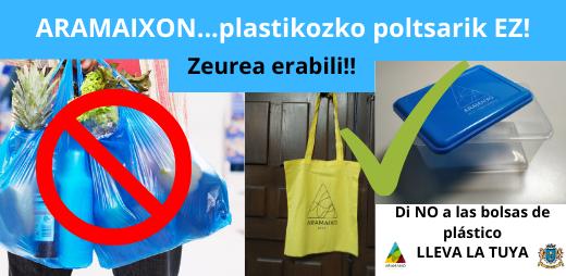 ARAMAIXON...plastikozko poltsarik EZ