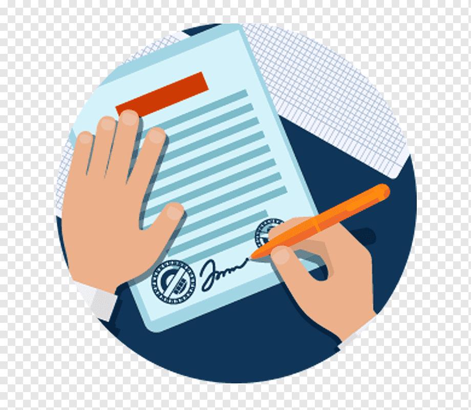 png-transparent-signature-contract-business-text-people-cartoon